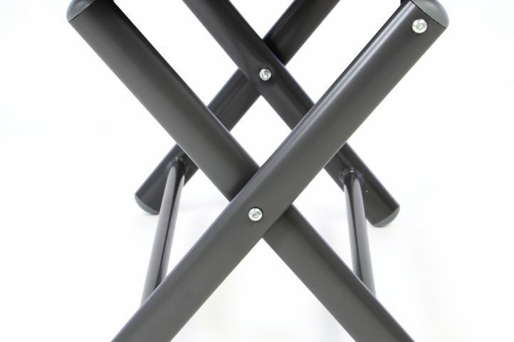 Hliníková zahradní stolička - skládací krémová