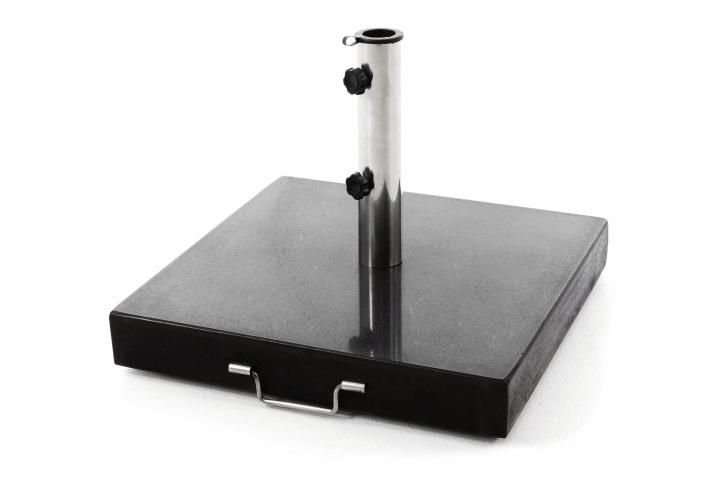 Podstavec pro slunečníky čtvercový žula – 50 kg černý