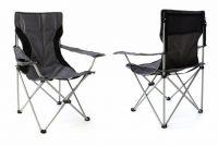 Sada 2x  Kempingová rybářská skládací židle - šedá