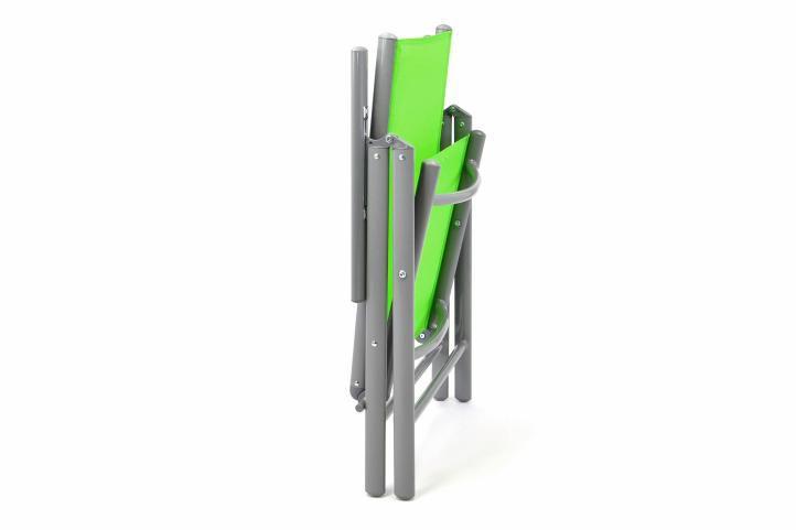 Zahradní skládací set stůl + 4 skládací židle - zelená