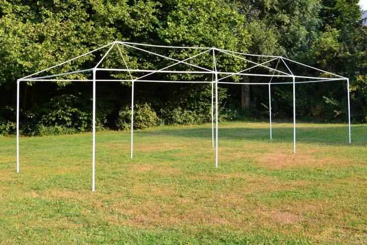 Zahradní stan - bílý, 3 x 9 m