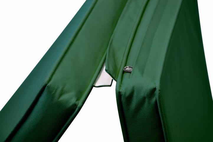 Skládací lehátko Florentine se zeleným polstrováním DIVERO