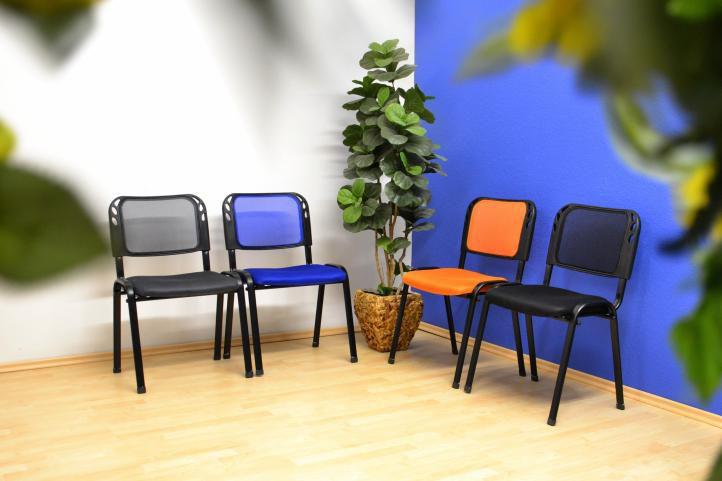 Sada 4 stohovatelných kongresových židlí – šedá