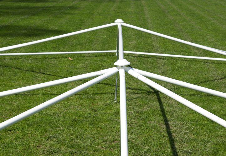 Zahradní stan - bílý, 8,9 x 6,5 m