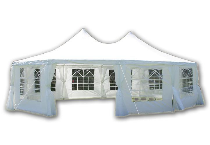 Zahradní party stan – bílý desetistěn, 890x650x330 cm