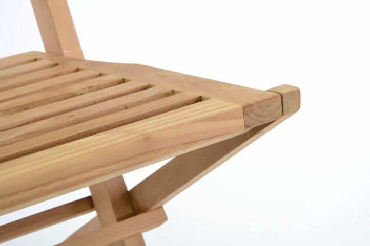 Sada 2 ks Skládací zahradní židle DIVERO Hantown – týkové dřevo