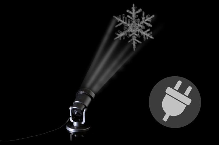 Venkovní LED projektor - sněhová vločka - dosah 3 - 15 m
