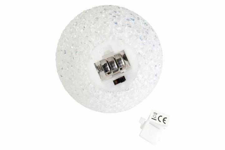 Barevná LED svítící koule 8 cm - měnící barvu