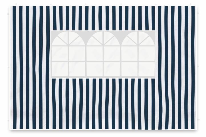 Sada dvou bočních stěn pro zahradní stan - bílá/modrá Garth