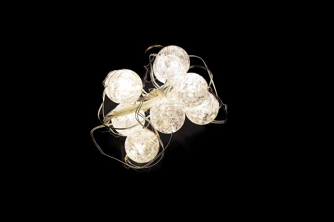 Vánoční dekorativní osvětlení - křišťálové kuličky - 10 LED