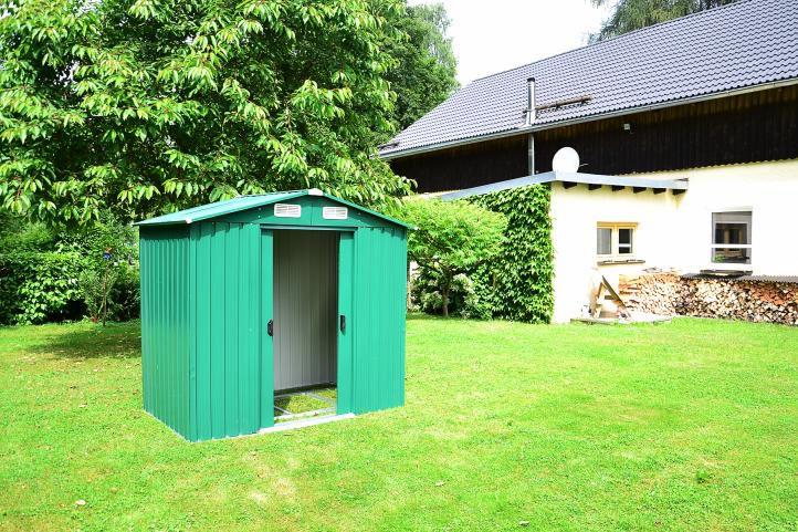 Zahradní domek, kovový, 257 x 205 x 202 cm