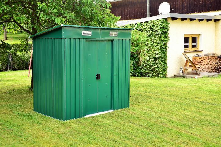 Zahradní domek (přístřešek), kovový, 195 x 122 x 181 cm