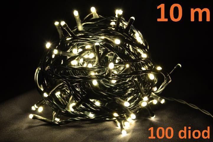 Vánoční LED osvětlení 10 m - teple bílé, 100 diod