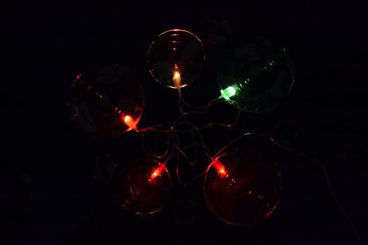 Vánoční dekorace – kruhy s časovačem