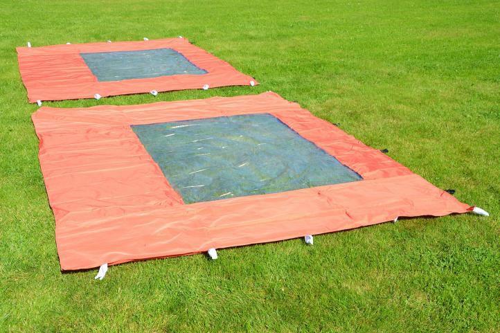Zahradní párty stan nůžkový PROFI 3x3 m terakota + 4 boční stěny