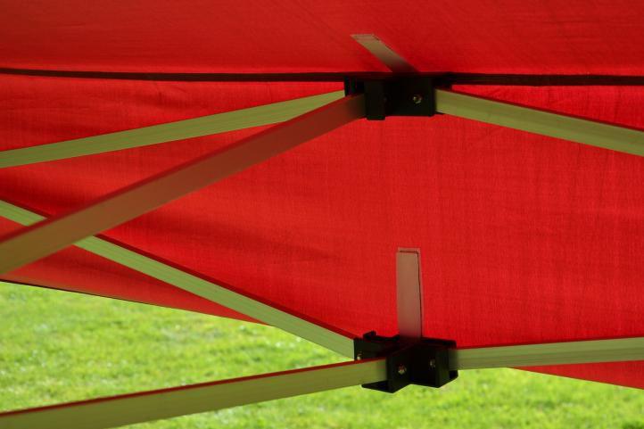 Zahradní párty stan nůžkový PROFI 3x3 m vínový + 4 boční stěny