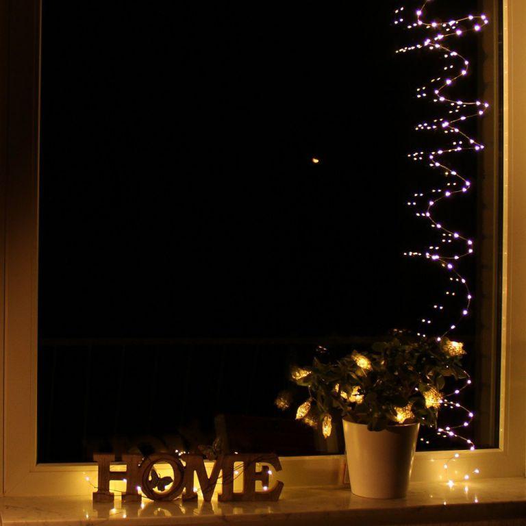 Vánoční světelný řetěz - MINI 10 LED - teple bílá