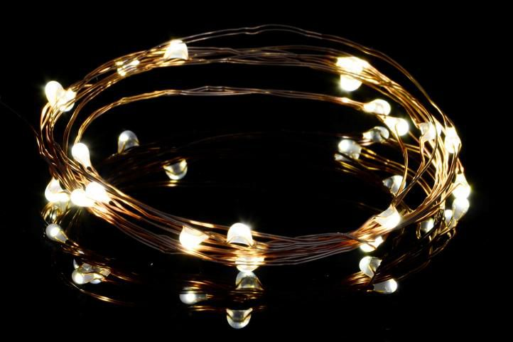Vánoční světelný řetěz - MINI 20LED - teple bílá