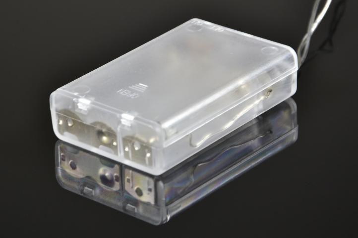 Vánoční LED řetěz - 1,10 m, 10 LED diod, studeně bílý