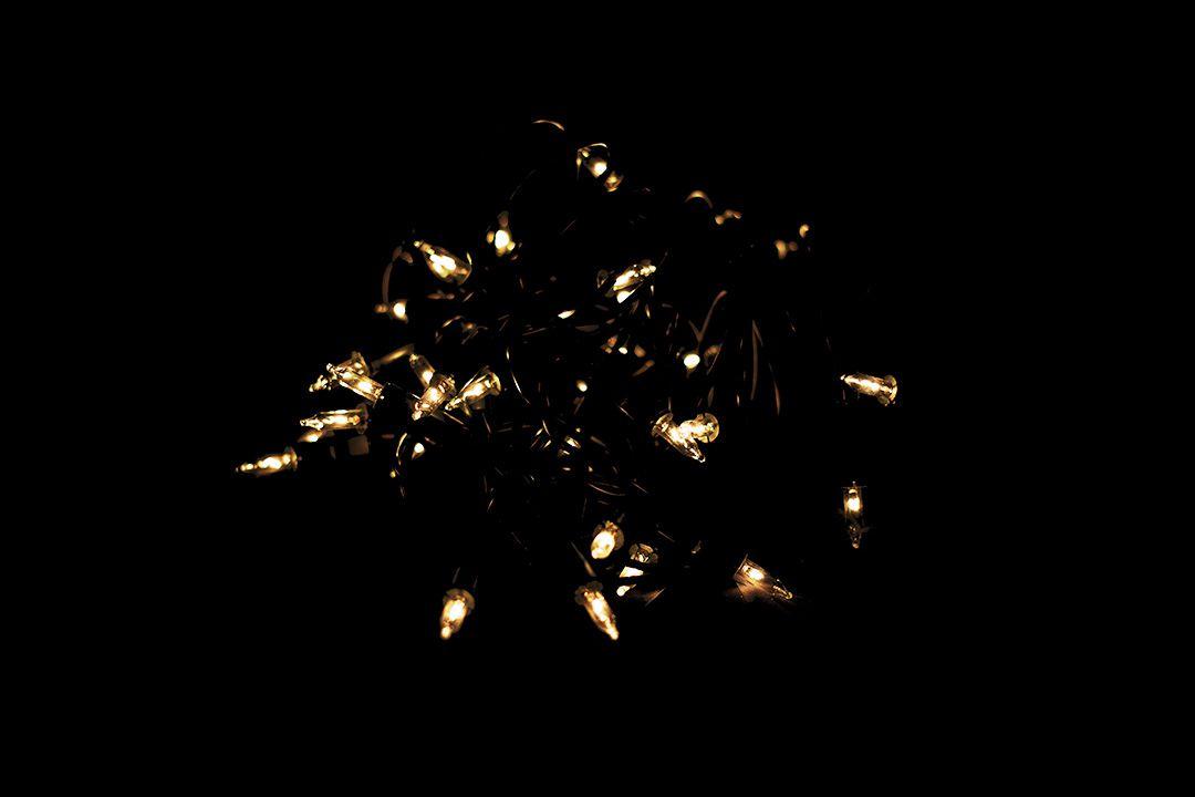 Vánoční světelný řetěz - 20 MINI žárovek - žlutá - 4,35 m