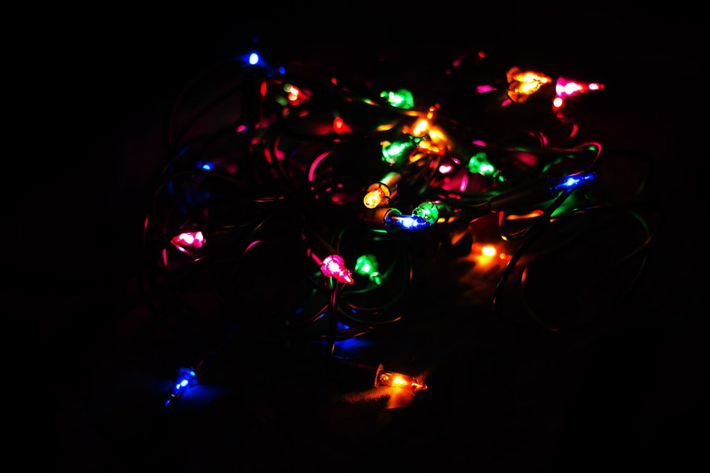 Vánoční světelný řetěz - 10 MINI žárovek - barevné - 2,85 m