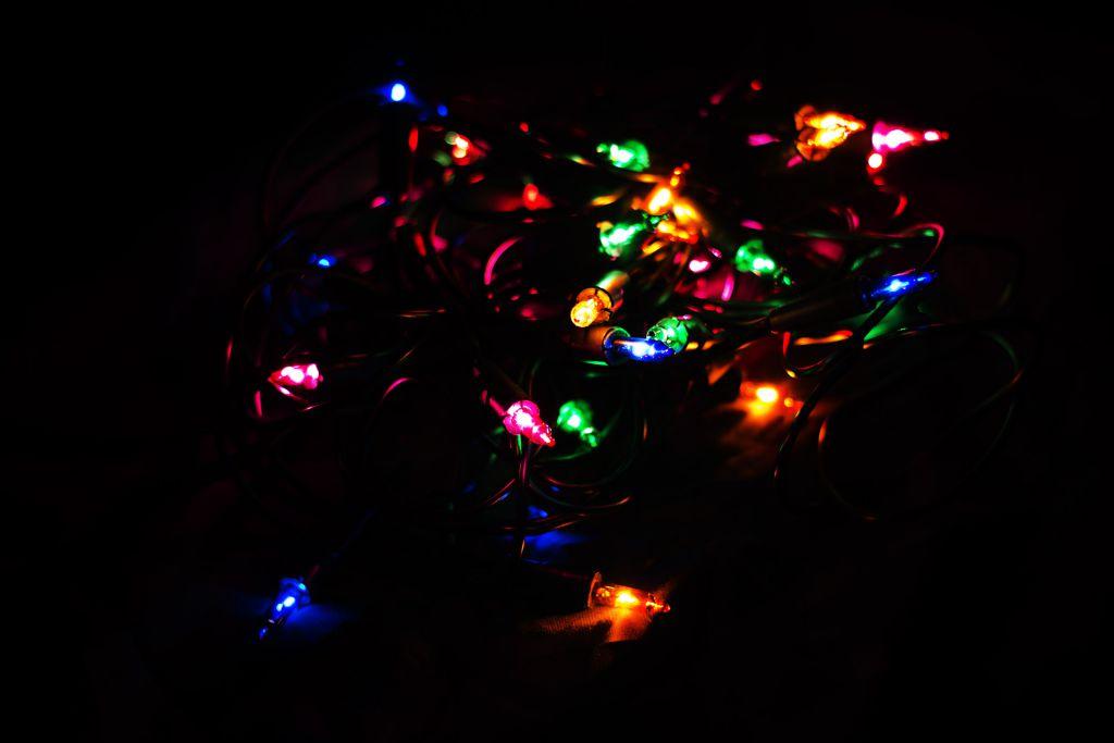 Vánoční světelný řetěz - 50 MINI žárovek - barevné - 11,30 m