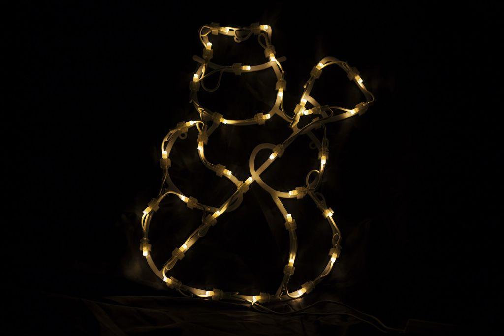 Vánoční LED dekorace - sněhulák - 30 cm