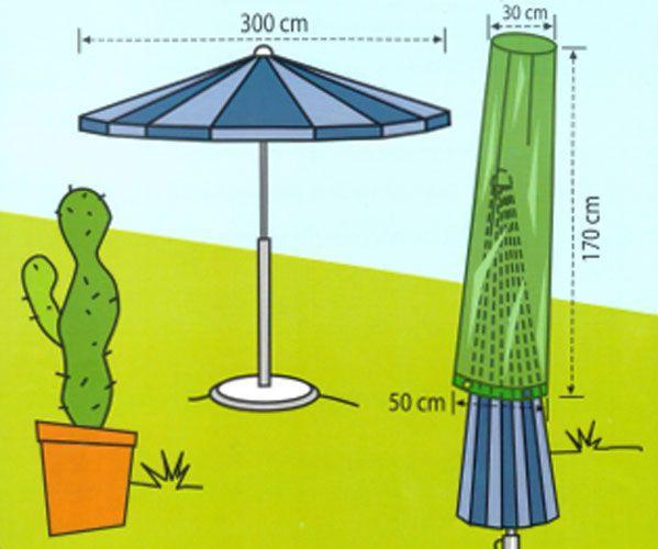 Obal na slunečník s průměrem 3 m - zelený