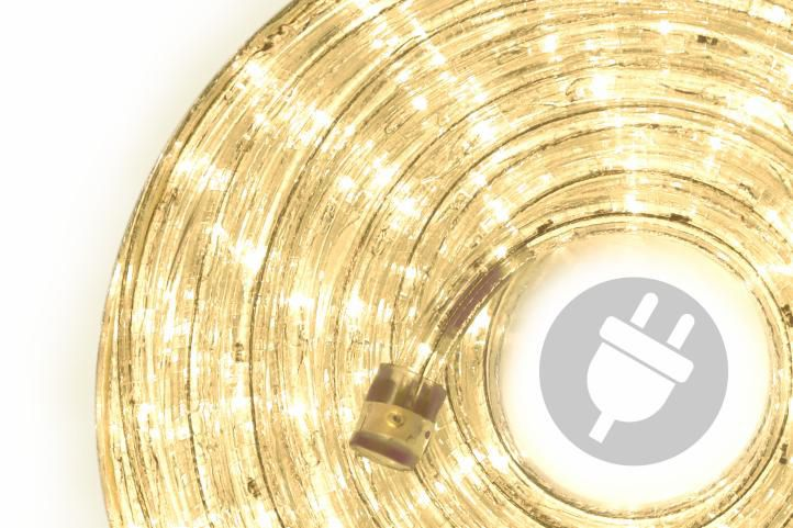 LED světelný kabel 40 m – teple bílá, 960 LED diod