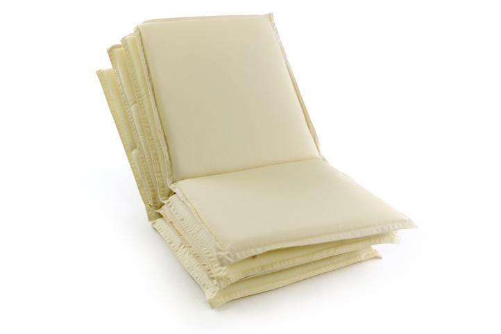 Sada 4 ks polstrování na nízké zahradní židle - krémové