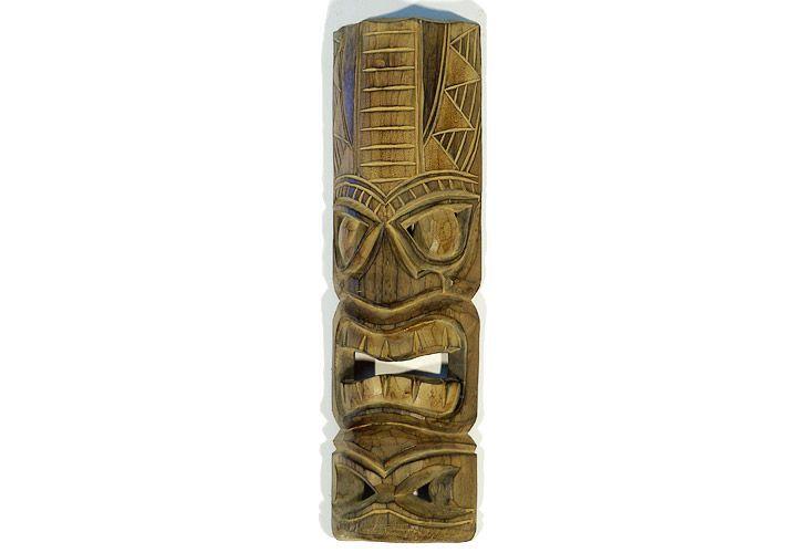 Dřevěná maska sloup světle hnědá 50 cm