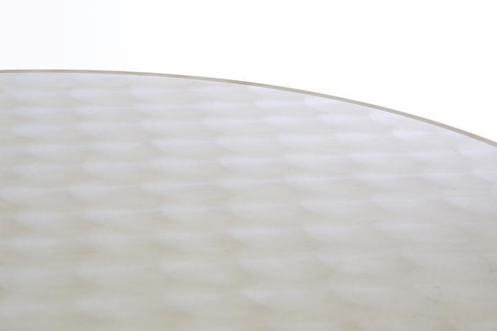 Barový stůl 110 cm kulatý - stříbrný