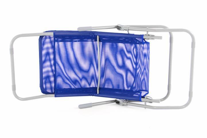 Zahradní houpací lehátko - modré - 160 cm