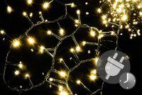 Vánoční bohatý LED řetěz - 10 m, 500 diod, teple bílý