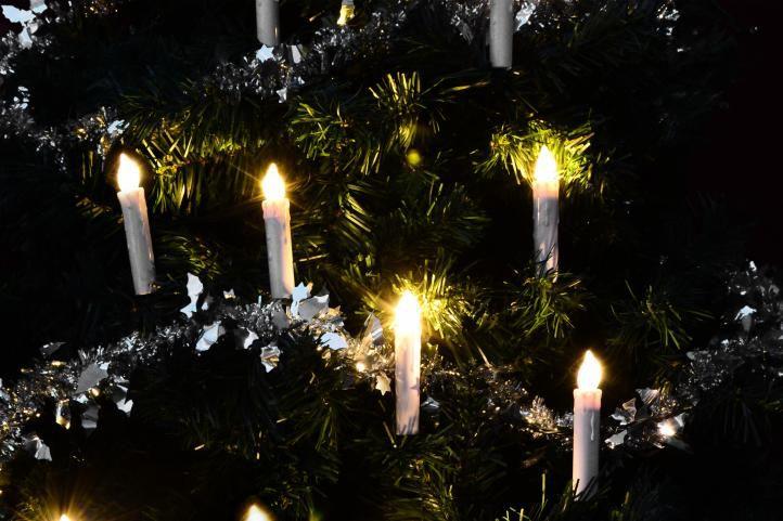 Vánoční svíčky na stromeček - bezdrátové - 10 ks