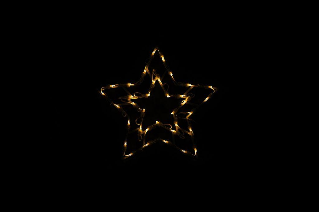 Vánoční LED dekorace do okna - HVĚZDA - 40 cm