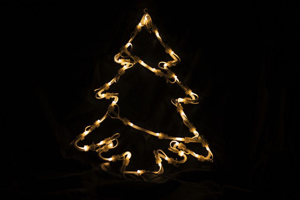 Vánoční LED dekorace - strom - 30 cm