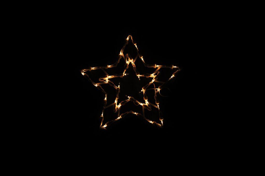 Vánoční LED dekorace - hvězda - 30 cm