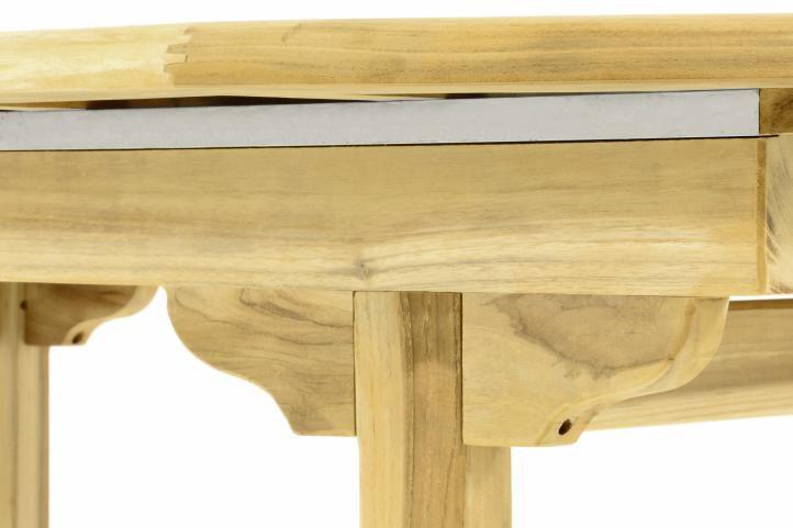 Zahradní oválný stůl DIVERO - roztahovatelný - 170/230 cm