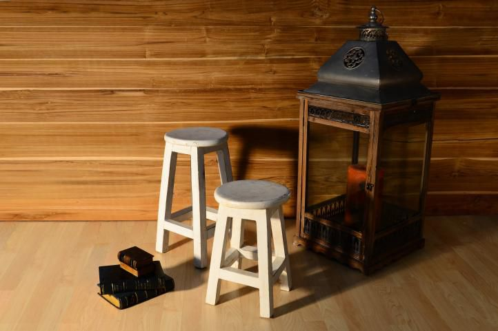 Designová retro stolička VINTAGE DIVERO vzhledu - výška 40 cm