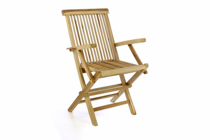 Zahradní židle DIVERO skládací – týkové dřevo