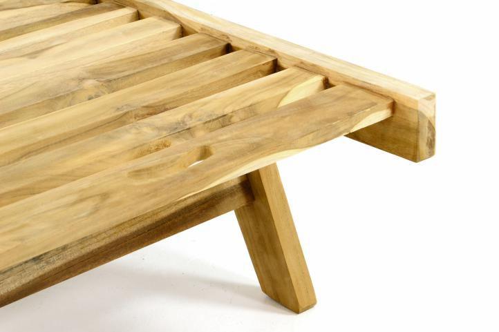 Polohovatelné lehátko z týkového dřeva DIVERO