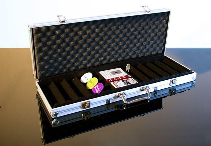 Hliníkový kufr na 500 ks žetonů s příslušenstvím