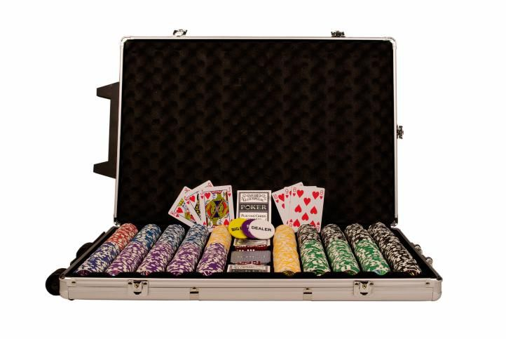 Poker set 1000 ks žetonů Poker set 1000 ks žetonů OCEAN Trolley CHAMPION CHIP CHAMPION CHIP