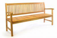 Divero 3-místná zahradní lavice z masivního teaku, 180 cm