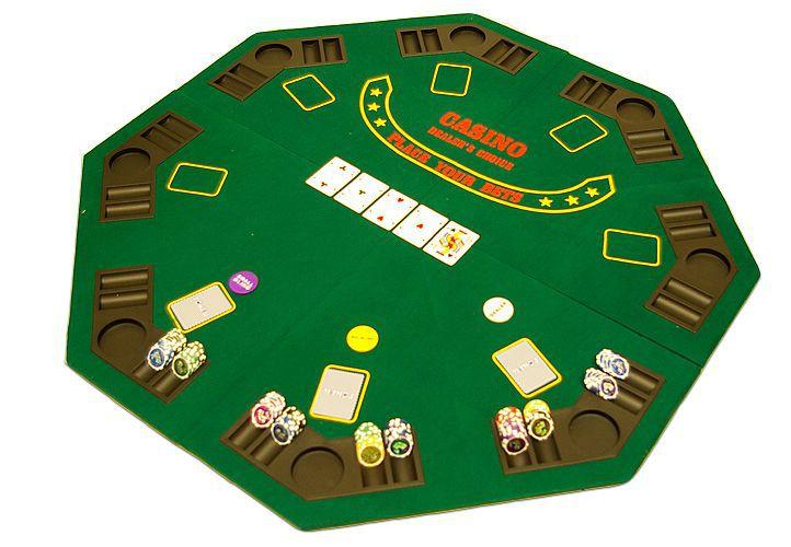 Poker podložka osmihran skládací D00507