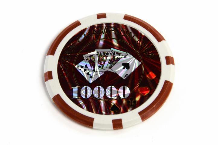 Kusový žeton design Ocean Hodnota 10000 - 50 ks
