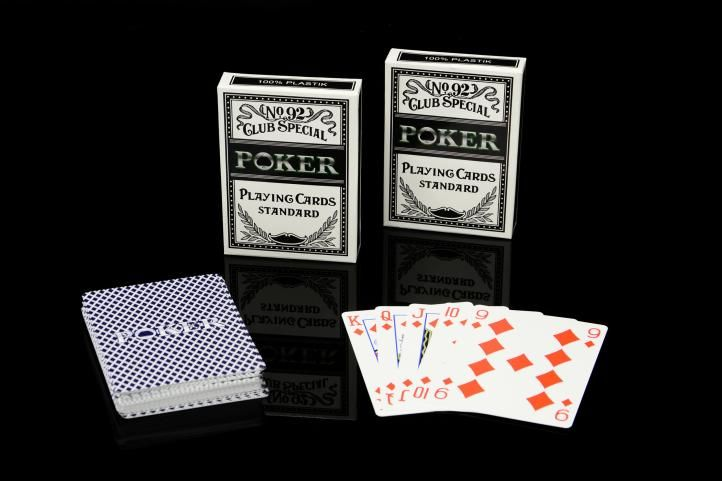 Sada 2 ks Poker karet No92 100% PLAST