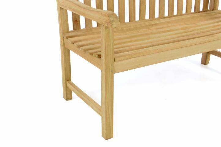 Zahradní lavice DIVERO – ošetřené týkové dřevo – 130 cm