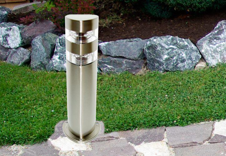 Stojanová nerezová lampa Garth s 2 x 12 LED diodami, 50 cm
